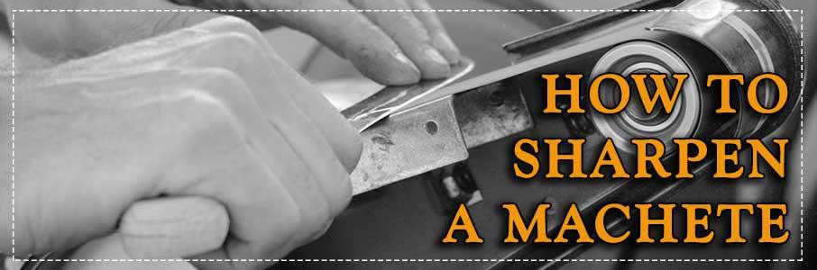 how to sharpen machete